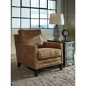 Millennium Malakoff Contemporary Nailhead Trim Chair With Track Arms