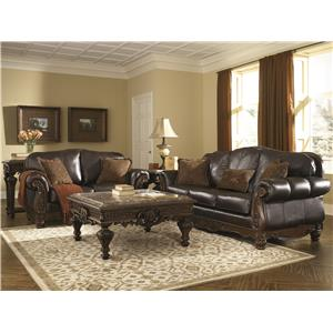 Millennium North Shore - Dark Brown Stationary Living Room Group