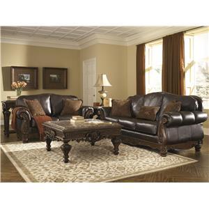 Millennium North Shore - Dark Brown Stationary Living Room Group