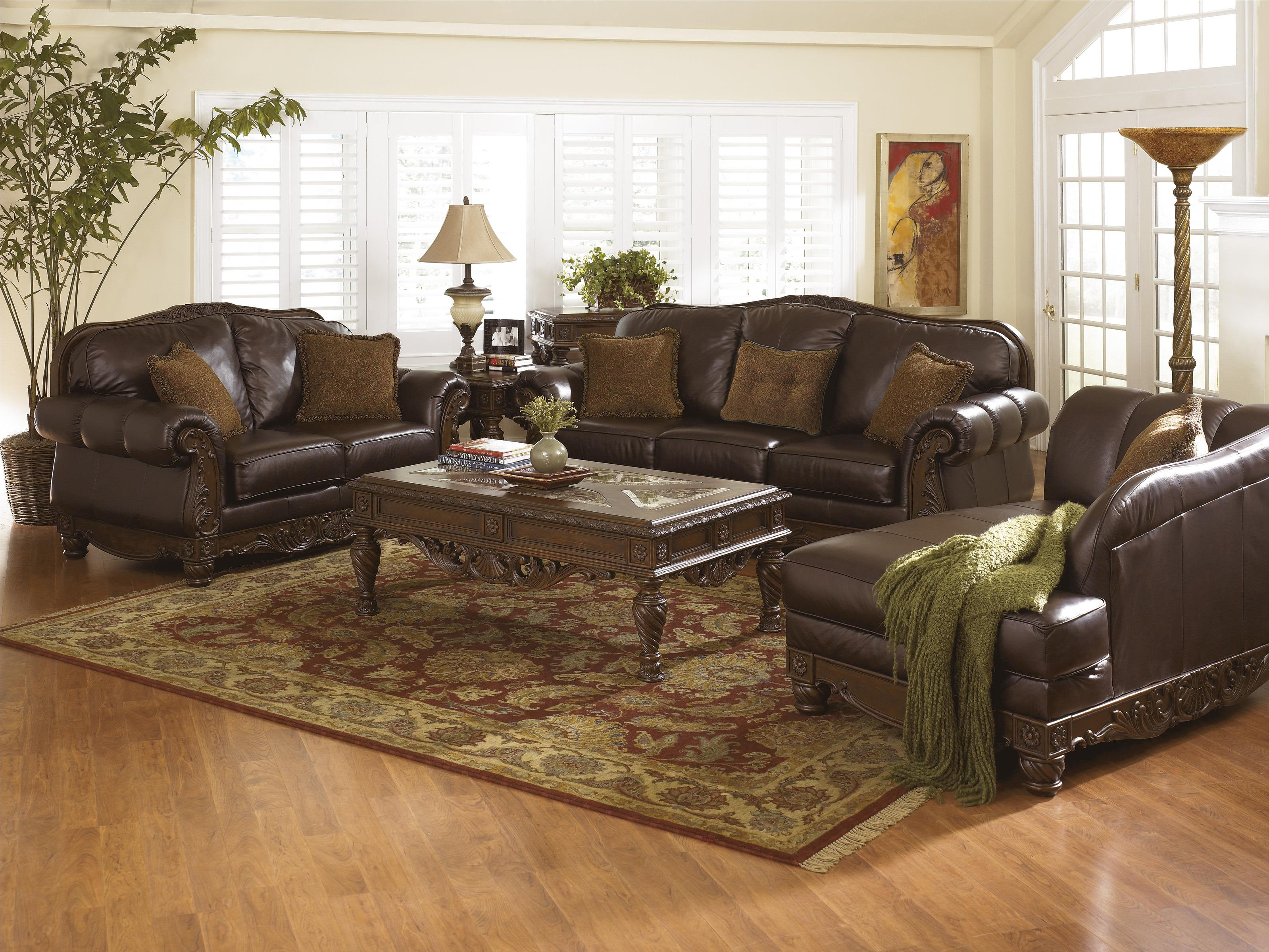 Millennium North Shore - Dark Brown Stationary Living Room Group - Item Number: 22603 Living Room Group 2