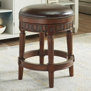Millennium North Shore Upholstered Swivel Stool