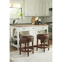Millennium North Shore Upholstered Swivel Stool with Faux Leather Upholstered Seat
