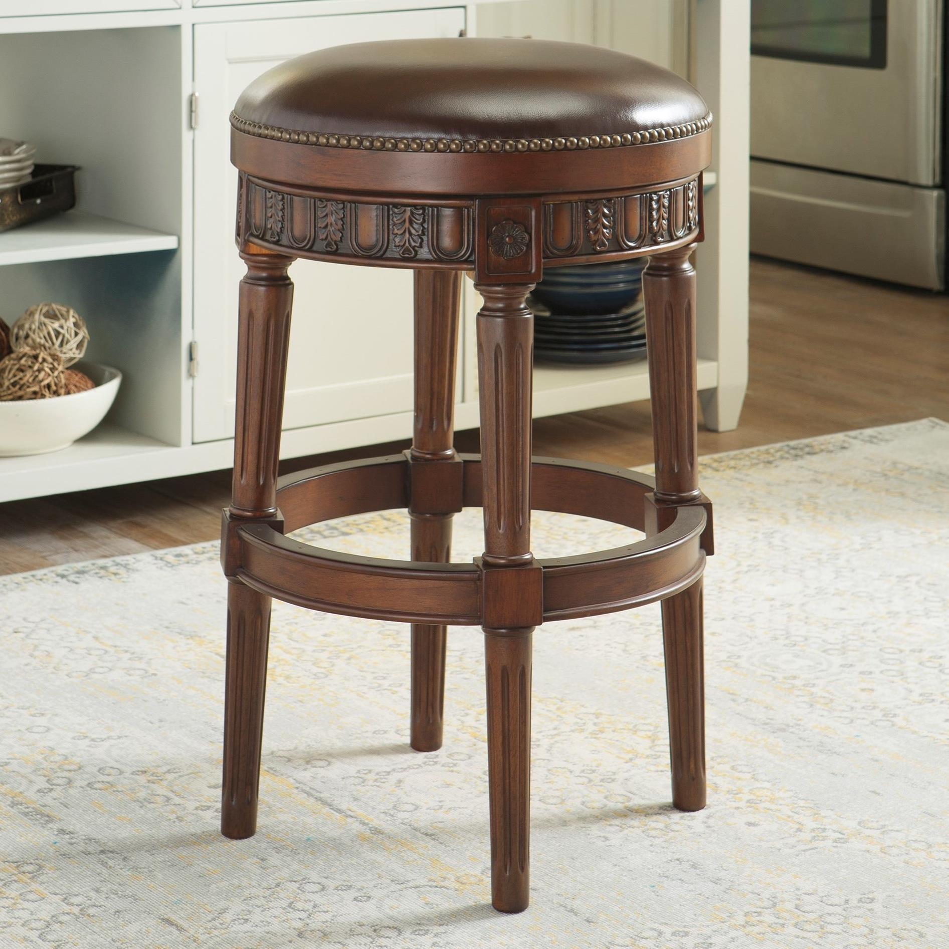 Millennium North Shore Tall Upholstered Swivel Stool - Item Number: D553-030