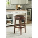 Millennium North Shore Tall Upholstered Swivel Stool with Faux Leather Upholstered Seat