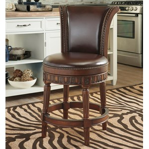 Millennium North Shore Upholstered Swivel Barstool