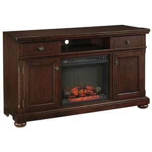 Millennium Porter Extra Large TV Stand with Fireplace Insert
