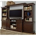 Millennium Porter Extra Large TV Stand, Bridge, and Piers - Item Number: W697-33+35+132+34