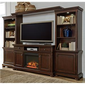 Millennium Porter Extra Large TV Stand, Bridge, and Piers
