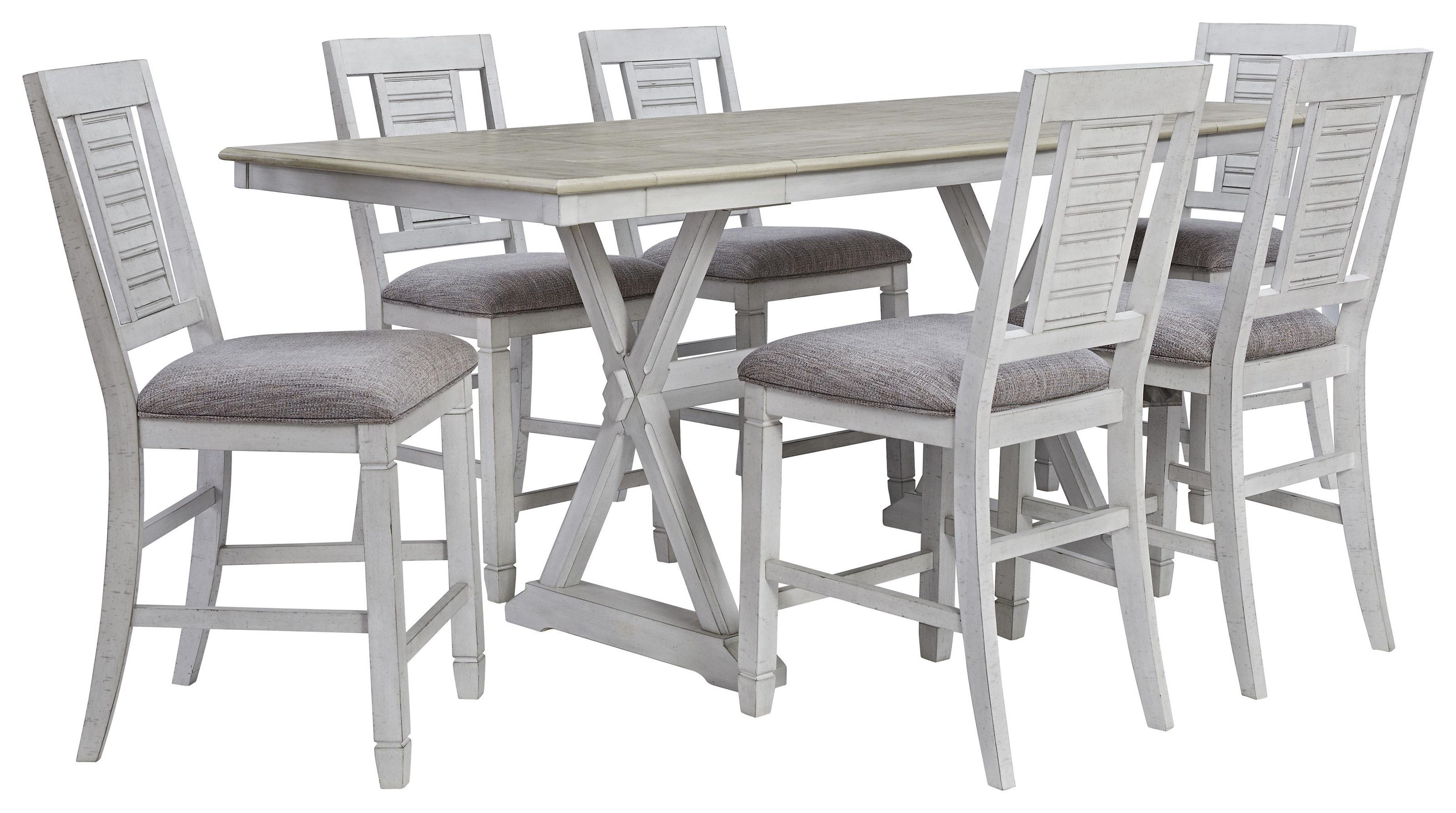 Teganville 11 PC Counter Height Table Set