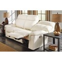 Millennium Whiteville Contemporary Leather Match Power Reclining Sofa w/ Adjustable Headrest