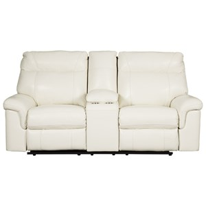 Power Recl. Loveseat w/ Con & Adj Headrests