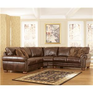 Signature Design by Ashley Furniture DuraBlend - Antique Stationary Sofa Sectional