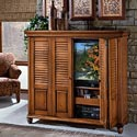 Brazil Furniture Group Irish Countryside Entertainment Cabinet with Pocket Doors