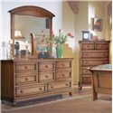 Brazil Furniture Group Sunderland Six Drawer Dresser - Shown with Mirror