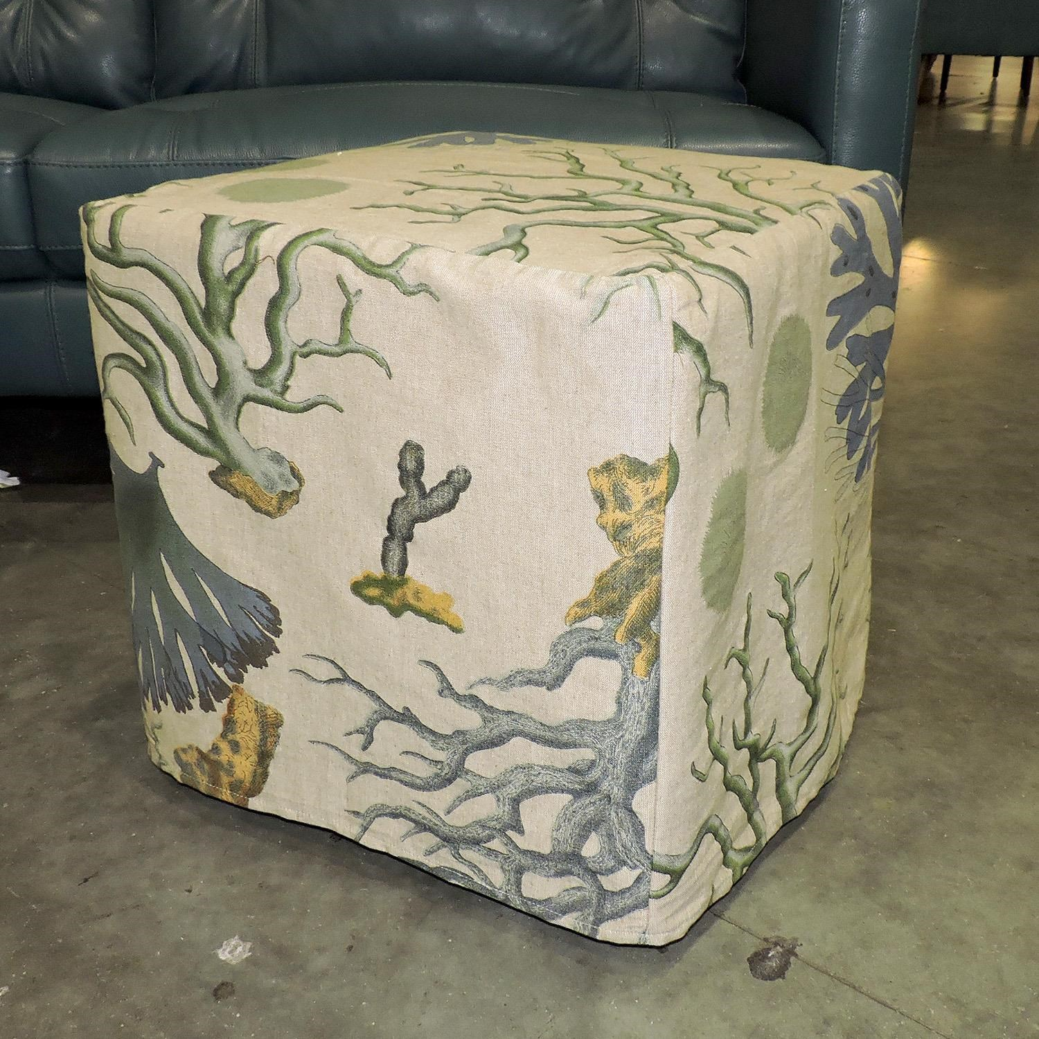 Miscellaneous     Blue Coral Slipcover Ottoman - Item Number: 062243863