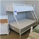 Miscellaneous Clearance Metal Twin/ Full Bunk Bed - Item Number: 19301635