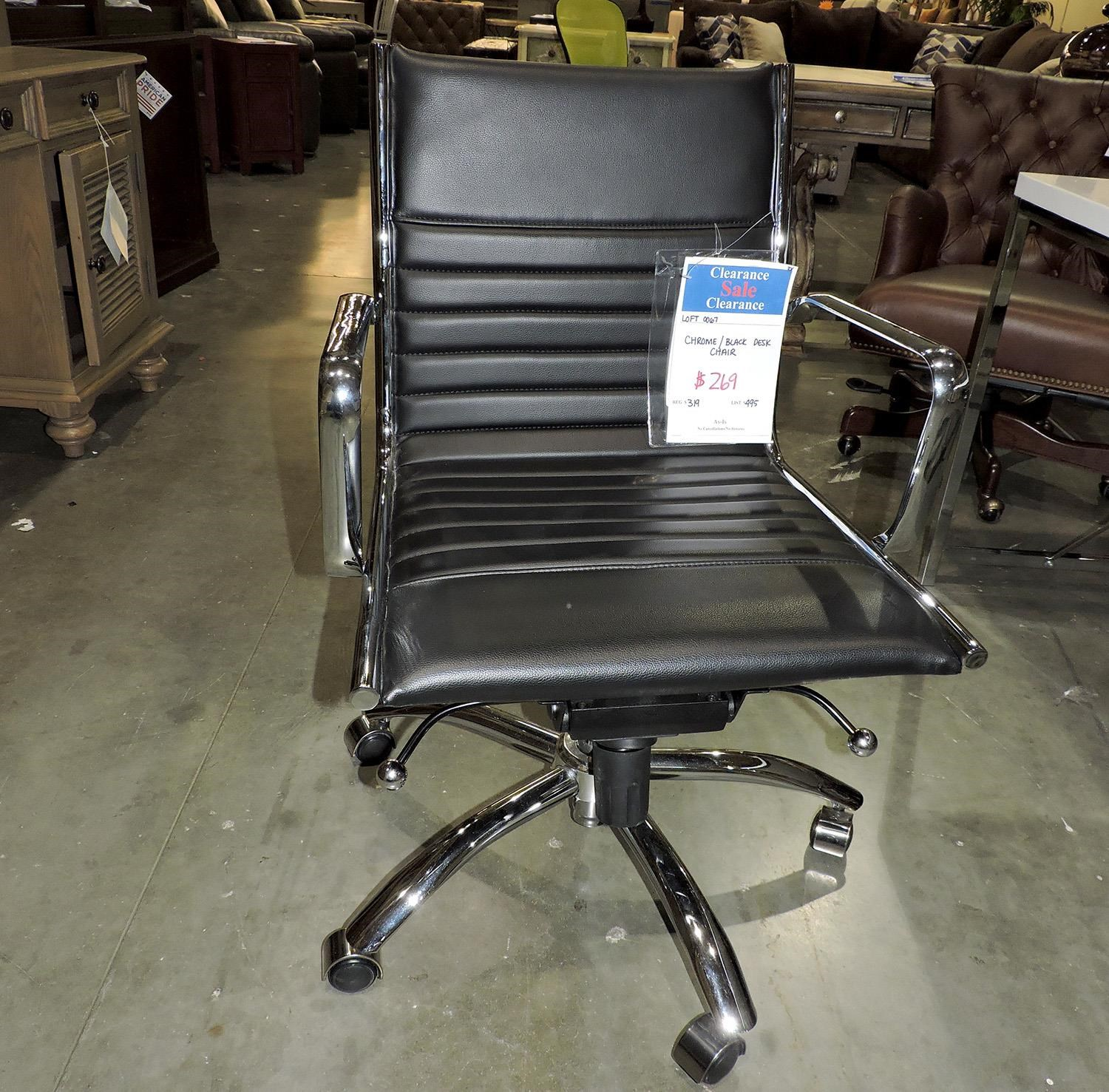 Miscellaneous     Black and Chrome Desk Chair - Item Number: 250007421