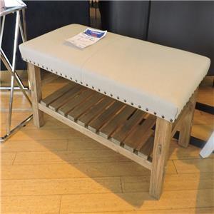 Linen Top Bench
