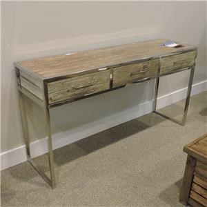 Console Table Polished Chrome