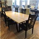"""Miscellaneous Clearance 96"""" Raw Oak Dining Table - Item Number: 836284219"""