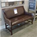 Miscellaneous Clearance Settee- Antique Saddle - Item Number: 963700152