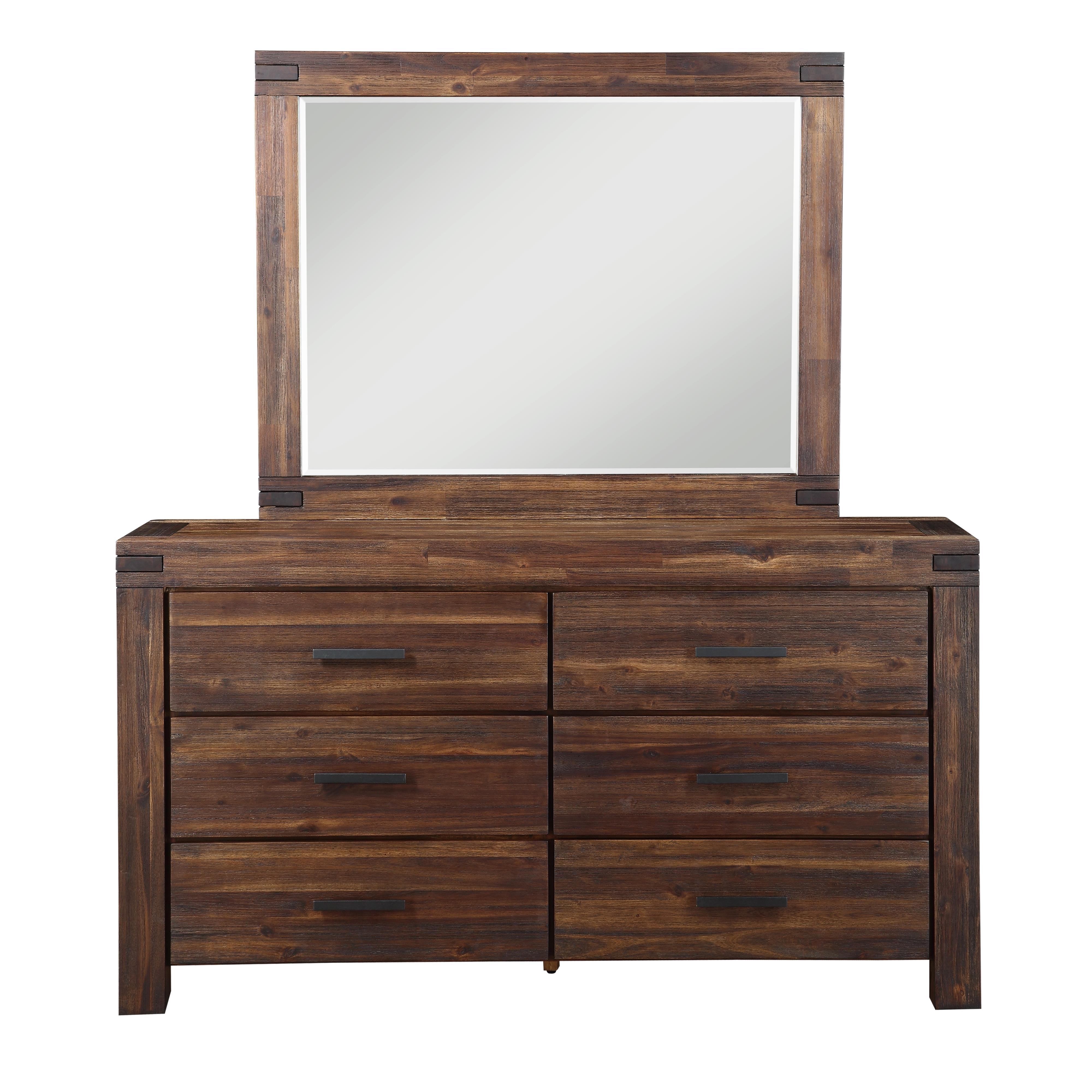 Modus International Camden Fields Dresser and Mirror Combo - Item Number: B41-D + B41-M