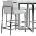 Modus International Amalfi Metal Back Counter Stool in White - Item Number: 1AA470M