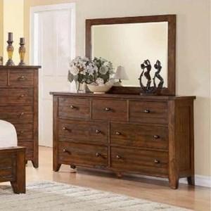 Modus International Cally 9CR 7 Drawer Dresser and Mirror