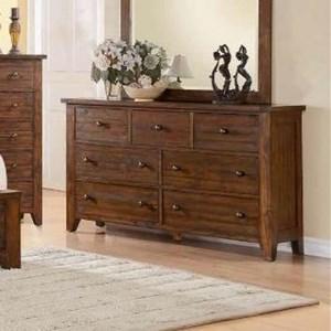 Modus International Cally 9CR 7 Drawer Dresser