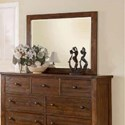 Modus International Cally Mirror with Wood Frame - Item Number: 9CR183