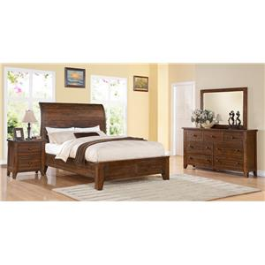 Modus International Cally Queen Low Profile Bed