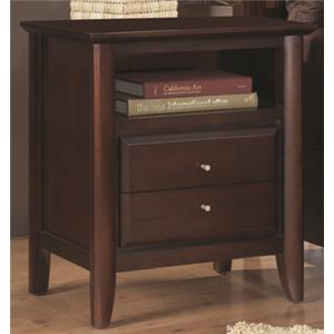 Modus International City II Nightstand with Power Charger