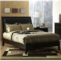 Modus International City II Full Leatherette Low Profile Sleigh Bed - 1X50L4