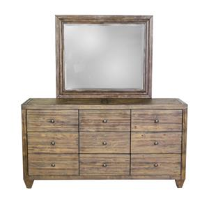 Modus International Corinth 9 Drawer Dresser