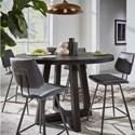 Modus International Crossroads Orson Solid Wood Counter Table Set - Item Number: 9K2062O+4x9LE870V