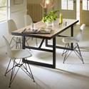 Modus International Crossroads 5-Piece Drift Solid Wood/Steel Dining Set - Item Number: 9K4461M+4x9LA466R