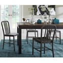 Modus International Crossroads 5-Piece Gabe Solid Wood/Metal Dining Set  - Item Number: 9KT361G+4x8MR966Y