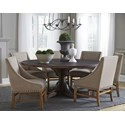 Modus International Crossroads 7-Piece Philip Solid Wood Round Table Set - Item Number: 9KT861R+6x8PL766A