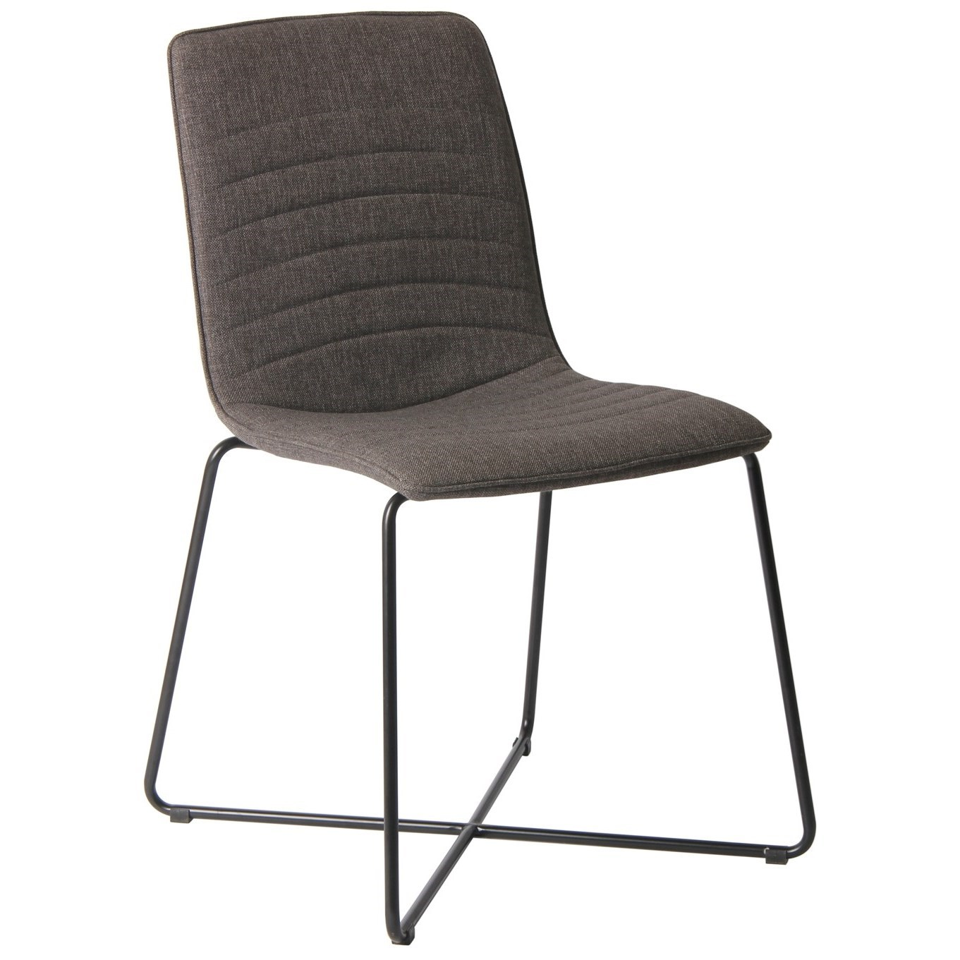 Modus International Crossroads Baylee Upholstered Cross Base Dining Chair In Gray A1 Furniture Mattress Dining Side Chairs