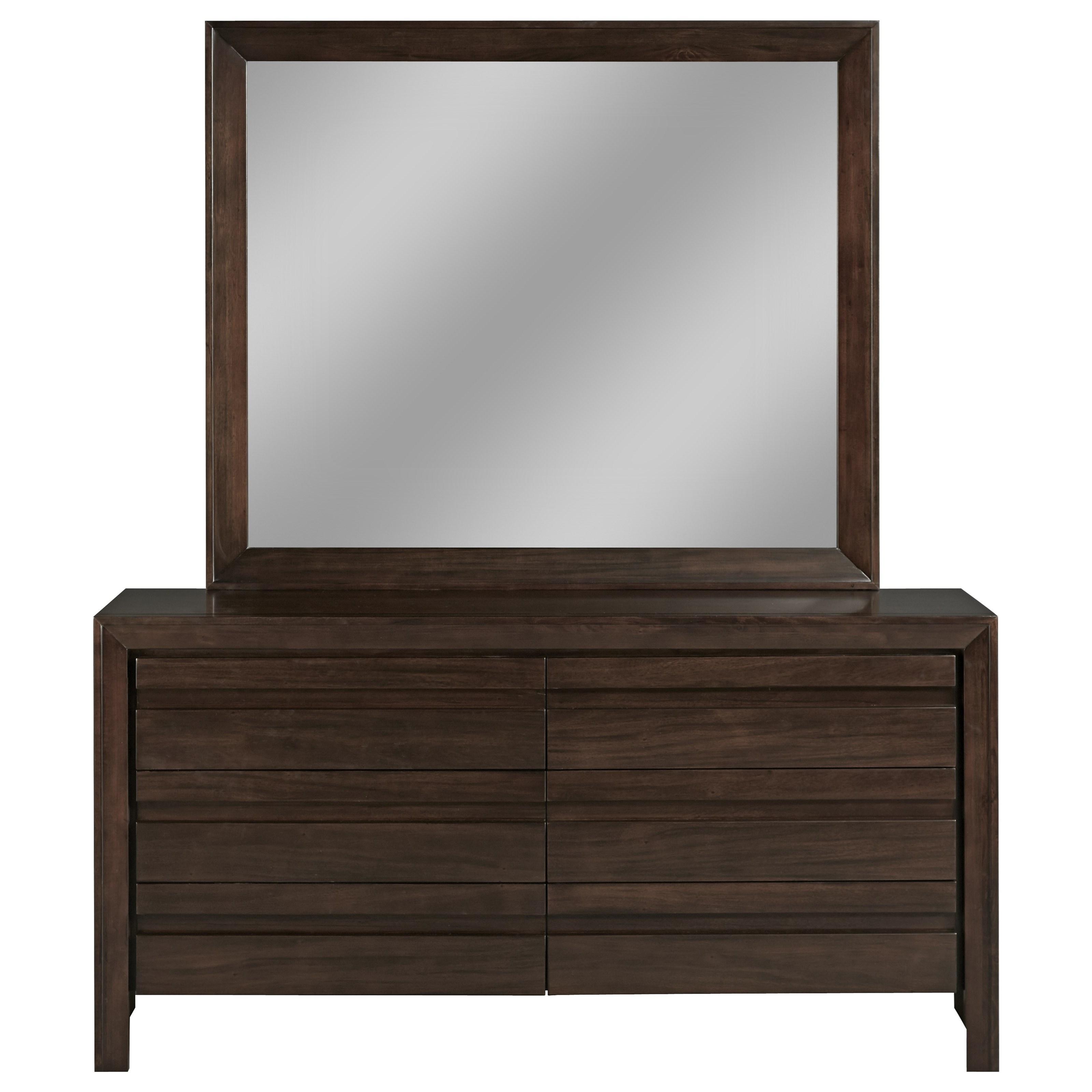 Element Dresser & Mirror by Modus International at HomeWorld Furniture
