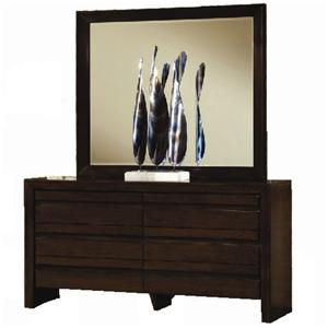 Element Contemporary Four Drawer Dresser and Mirror Set by Modus International