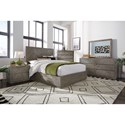 Modus International Herringbone Full Bedroom Group - Item Number: 5QS3 F Bedroom Group 2