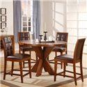 Modus International Hudson 5 Piece Counter Table and Chair Set - HD6062XA+4x6070A