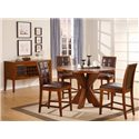 Modus International Hudson 5 Piece Counter Table and Chair Set - HD6062XA+4x6070A - Shown with Sideboard