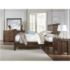 Modus International Meadow -BR King Bed, Dresser, Mirror and Nightstand