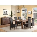 Modus International Meadow Formal Dining Room Group - Item Number: 3F41 Dining Room Group 9