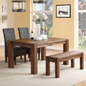 Modus International Meadow Dining Table & Chair Set with Bench - Item Number: 3F4161+3F4191+2x3F4166