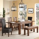 Modus International Meadow Dining Table & Chair Set with Bench - Item Number: 3F4161+3F4191+2x3F4166P+2x3F4166