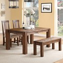 Modus International Meadow Dining Table & Chair Set with Bench - Item Number: 3F4161+3F4191+2x3F4166P