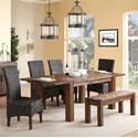 Modus International Meadow Dining Table & Chair Set with Bench - Item Number: 3F4161+3F4191+4x3F4166